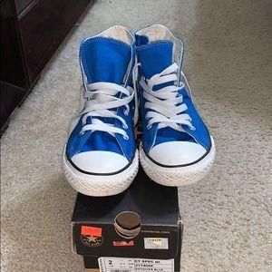 Blue converse size 2